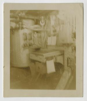 Primary view of object titled '[Photograph of U.S.S. Texas Starboard Engine Room]'.