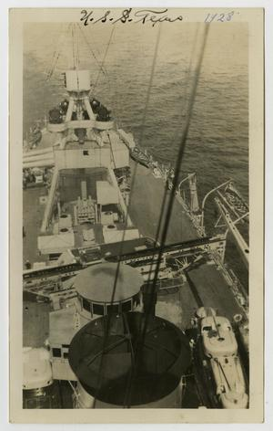 Primary view of object titled '[Photograph of U.S.S. Texas Deck]'.