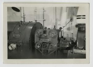 Primary view of object titled '[Photograph of U.S.S. Texas Dynamo Room]'.
