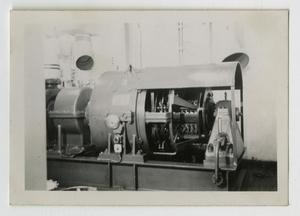 Primary view of object titled '[Photograph of U.S.S. Texas Generator]'.