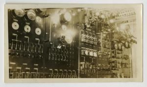 Primary view of object titled '[Photograph of Electrical Switchboard on U.S.S. Texas]'.