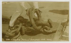 Primary view of object titled '[Photograph of Anchor Chain]'.