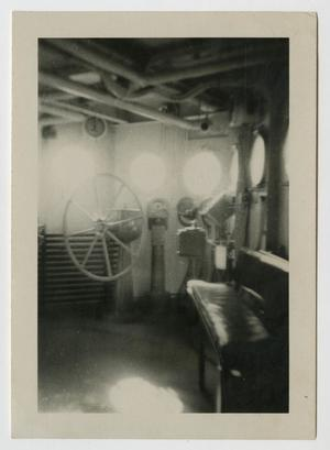 Primary view of object titled '[Photograph of U.S.S. Texas Pilot House]'.