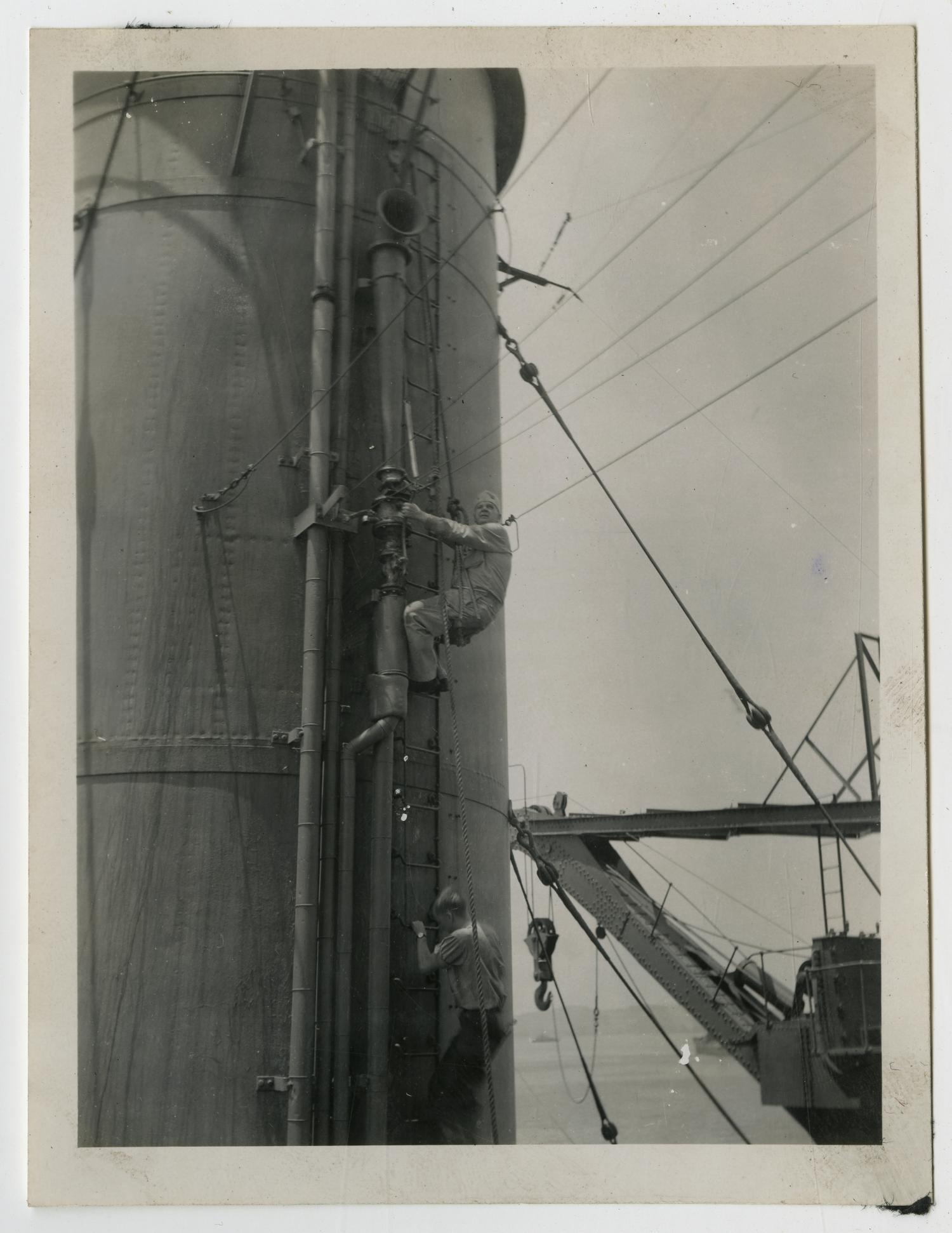[Photograph of U.S.S. Texas Engineering Officer]                                                                                                      [Sequence #]: 1 of 2