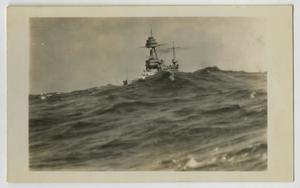 Primary view of object titled '[Photograph of U.S.S. Texas at Sea]'.