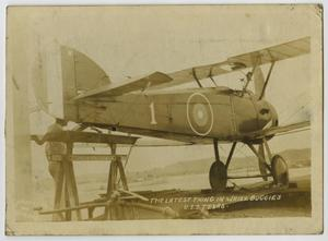 Primary view of object titled '[Photograph of Small Airplane]'.