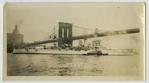 Primary view of object titled '[Photograph of U.S.S. Texas]'.