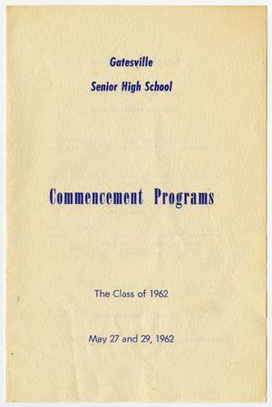 Primary view of object titled 'Gatesville Senior High School Commencement Programs'.