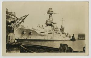 Primary view of object titled '[Photograph of U.S.S. Texas at New York]'.