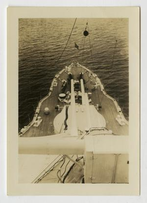 Primary view of object titled '[Photograph of U.S.S. Texas Guns and Deck]'.