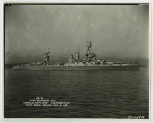 Primary view of object titled '[Photograph of U.S.S. Texas in Norfolk Navy Yard]'.