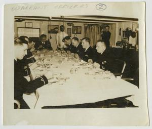 Primary view of object titled '[Photograph of Warrant Officers Dinner]'.