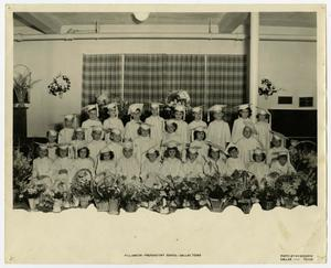 Primary view of object titled '[Williamson Preparatory School in Front of Curtains]'.