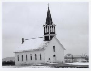 "Primary view of object titled '[Photograph of the ""Rock Church"" and Saint Olaf's Cemetery]'."