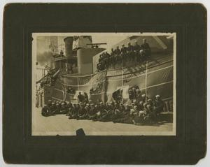 Primary view of object titled '[Photograph of U.S.S. Texas 2nd Division]'.