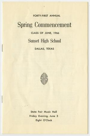 Primary view of object titled 'Forty-First Annual Spring Commencement: Class of June, 1966'.