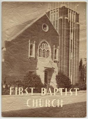 Primary view of object titled 'A Supplement to the Centennial Story of the First Baptist Church'.