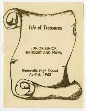 Primary view of object titled '[Gatesville High School Junior-Senior Banquet and Prom Announcement]'.