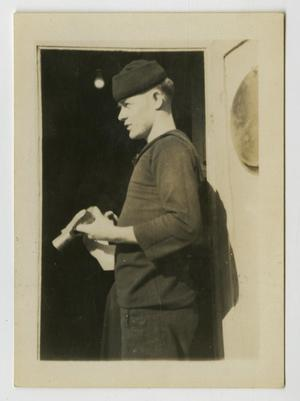 Primary view of object titled '[Photograph of a Navy Man]'.