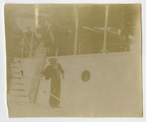 Primary view of object titled '[Photograph of U.S.S. Texas Commissioning]'.