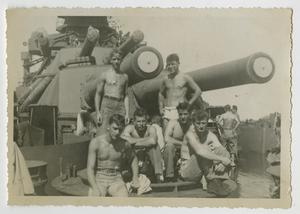 Primary view of object titled '[Photograph of U.S.S. Texas Crew Members]'.