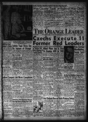 Primary view of object titled 'The Orange Leader (Orange, Tex.), Vol. 49, No. 290, Ed. 1 Wednesday, December 3, 1952'.