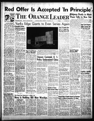 Primary view of object titled 'The Orange Leader (Orange, Tex.), Vol. 48, No. 238, Ed. 1 Monday, October 8, 1951'.
