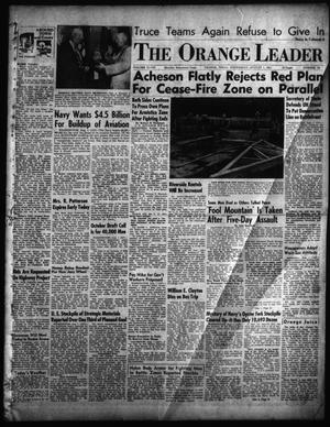 Primary view of object titled 'The Orange Leader (Orange, Tex.), Vol. 48, No. 181, Ed. 1 Wednesday, August 1, 1951'.