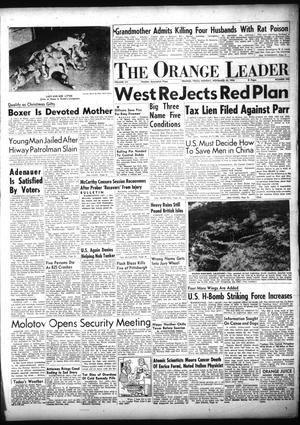 Primary view of object titled 'The Orange Leader (Orange, Tex.), Vol. 52, No. 295, Ed. 1 Monday, November 29, 1954'.