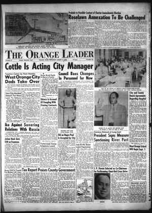 Primary view of object titled 'The Orange Leader (Orange, Tex.), Vol. 52, No. 192, Ed. 1 Wednesday, August 11, 1954'.
