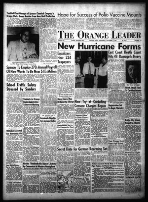 Primary view of object titled 'The Orange Leader (Orange, Tex.), Vol. 52, No. 210, Ed. 1 Wednesday, September 1, 1954'.