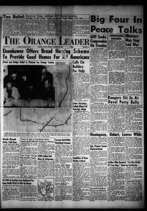 Primary view of object titled 'The Orange Leader (Orange, Tex.), Vol. 52, No. 21, Ed. 1 Monday, January 25, 1954'.