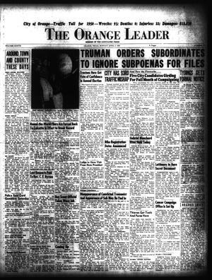Primary view of object titled 'The Orange Leader (Orange, Tex.), Vol. 37, No. 79, Ed. 1 Monday, April 3, 1950'.