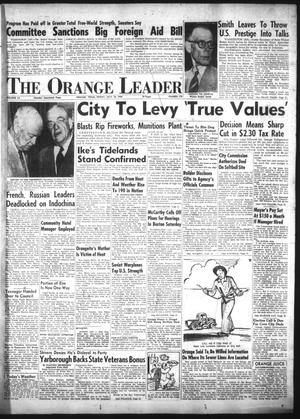 Primary view of object titled 'The Orange Leader (Orange, Tex.), Vol. 52, No. 170, Ed. 1 Friday, July 16, 1954'.