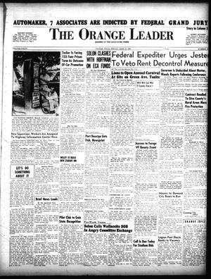 Primary view of object titled 'The Orange Leader (Orange, Tex.), Vol. 36, No. 137, Ed. 1 Friday, June 10, 1949'.