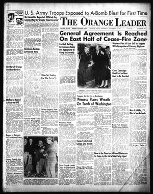 Primary view of object titled 'The Orange Leader (Orange, Tex.), Vol. 48, No. 259, Ed. 1 Thursday, November 1, 1951'.