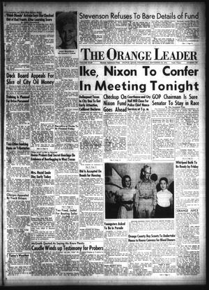 Primary view of object titled 'The Orange Leader (Orange, Tex.), Vol. 49, No. 230, Ed. 1 Wednesday, September 24, 1952'.
