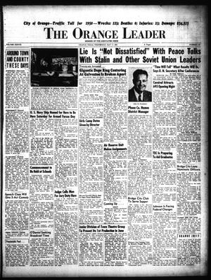 Primary view of object titled 'The Orange Leader (Orange, Tex.), Vol. 37, No. 118, Ed. 1 Wednesday, May 17, 1950'.