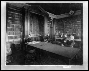 Primary view of object titled 'Interior of Library'.