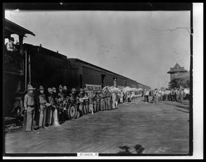 Primary view of object titled 'Band at Train Depot'.
