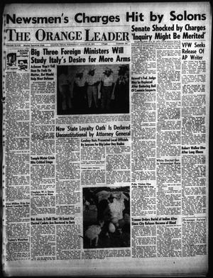 Primary view of object titled 'The Orange Leader (Orange, Tex.), Vol. 48, No. 204, Ed. 1 Wednesday, August 29, 1951'.