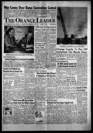 Primary view of object titled 'The Orange Leader (Orange, Tex.), Vol. 56, No. 164, Ed. 1 Wednesday, July 8, 1959'.