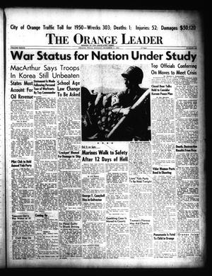 Primary view of object titled 'The Orange Leader (Orange, Tex.), Vol. 37, No. 302, Ed. 1 Monday, December 11, 1950'.