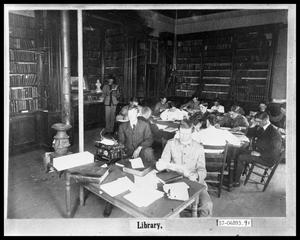 Primary view of object titled 'Students in Library'.
