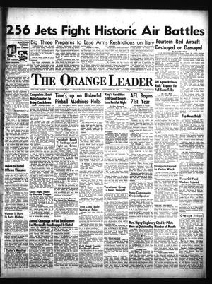 Primary view of object titled 'The Orange Leader (Orange, Tex.), Vol. 48, No. 228, Ed. 1 Wednesday, September 26, 1951'.