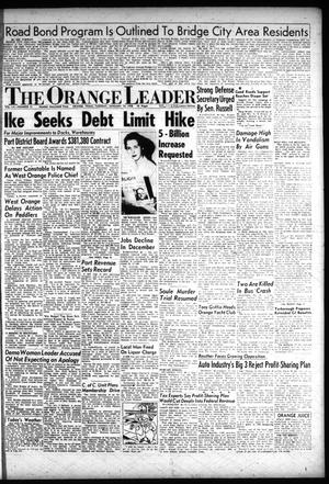 Primary view of object titled 'The Orange Leader (Orange, Tex.), Vol. 55, No. 12, Ed. 1 Tuesday, January 14, 1958'.