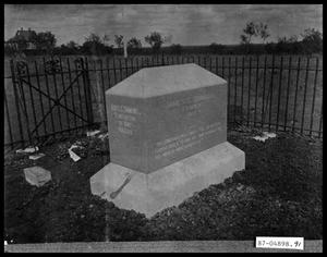 Primary view of object titled 'Grave and Headstone'.