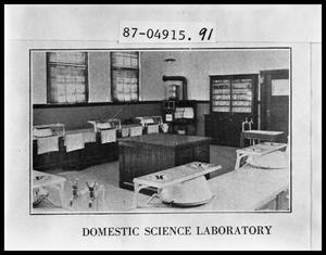 Primary view of object titled 'Domestic Science Laboratory'.