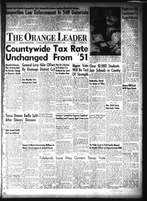 Primary view of object titled 'The Orange Leader (Orange, Tex.), Vol. 49, No. 216, Ed. 1 Monday, September 8, 1952'.