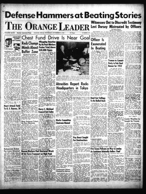 Primary view of object titled 'The Orange Leader (Orange, Tex.), Vol. 48, No. 271, Ed. 1 Thursday, November 15, 1951'.